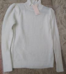 Rebrasti džemper sa rolkom