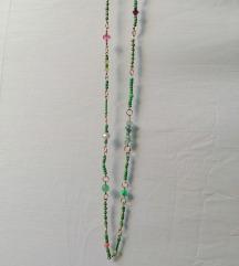 Ogrlica od perlica sa poludragim kamenjem NOVO