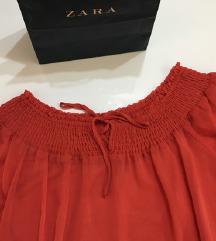 Zara zenska majica off shoulder