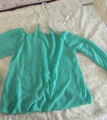 Tirkizna košulja sa golim ramenima