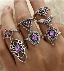 Set od 7 elegantnih prstenova NOVO