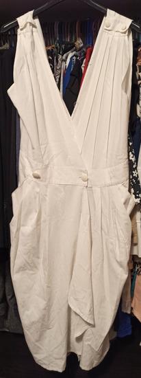 Bela haljina na preklop
