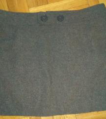 Siva elegantna suknja SNIZENJE