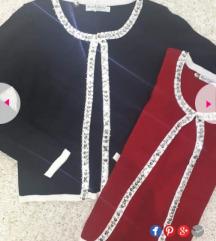Crveni kardigan džemper