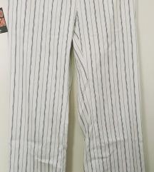 WICHIELE prugaste pantalone visokog struka