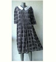 haljina svilena crno bela broj L