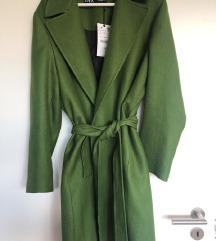 Zara kaput zeleni Novo