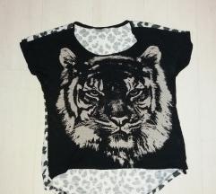 Crna majica, animal print