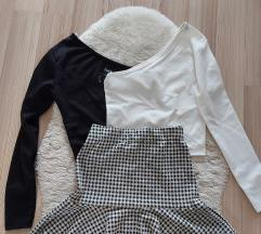 2 majice i suknja