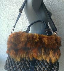 torba veća prirodno krzno 40x30 cm SHISHANG