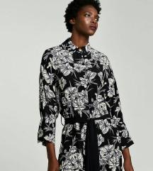 Zara black-white flower dress