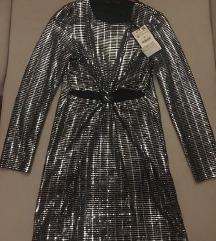 Zara srebrna haljina