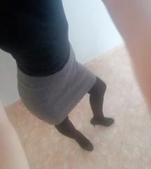 Suknja c&a, siva👗👁️. SNIŽENJE