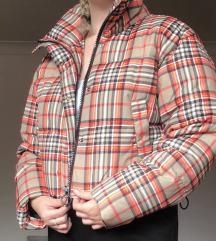 Karirana puffer jakna
