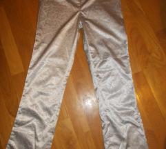 Srebrne pantalone odlicne xs/s