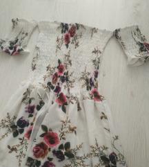 Duga cvetna haljina novo