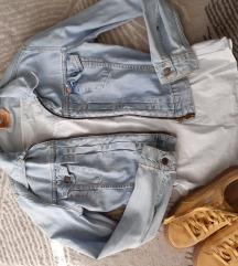 Snizena Levis crop teksas jakna
