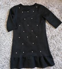 Nova crna haljinica sa biserima