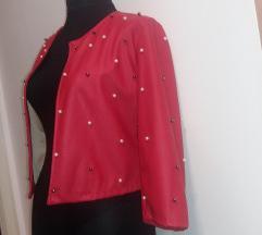 Crveni sako jaknica M