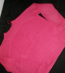 Tally Weijl crop oversized pink dzemper S,M
