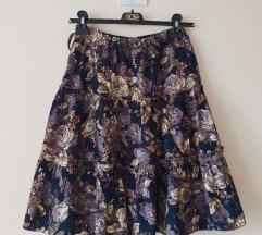 Rezz  Floral suknja (somot)