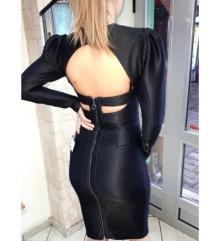 Crna haljina sa otvorena ledja