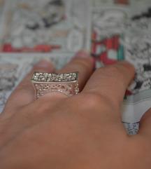 Prsten srca - srebro 925