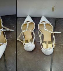 Zara T-vamp studded bele baletanke