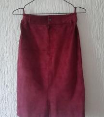Kozna suknja iz Spanije snizena na 800din.