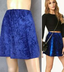 Pimkie plisana plava skater suknja S/M