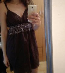 Braon letnja haljina na bretele M/L