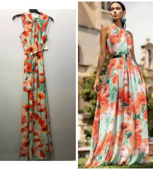 Nova,maxy haljina cvetna bez rukava