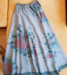 Duga suknja u vintage stilu