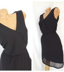 KIABI ❃ maramasta crna koktel haljina vel S/M
