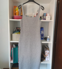 Zara midi siva haljina na bretele