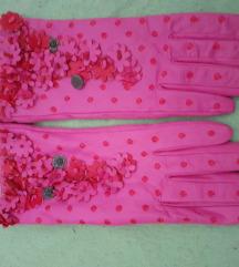 Kozne pink rukavice