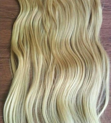 Svetlo med plava kosa na klipse