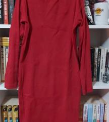 Crvena mini haljina dugih rukava