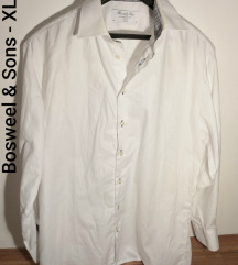 Bosweel and Sons bela košulja dug rukav XL