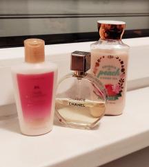 VS losion ,Bath&Body Works losion i Chanel chance