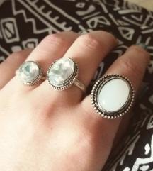 3 boho prstena