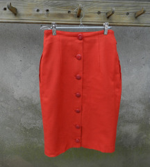 Vintage vunena suknja