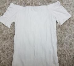 Bela majica sa spustenim ramenima
