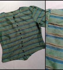 Vintage, svilena kosulja na pruge L