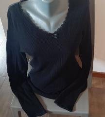 ClockHouse pamučna crna majica, L, NOVO