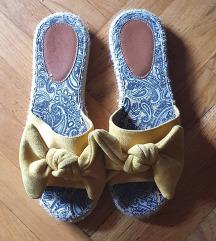 ***Medene papucice od jute sa masnicom***