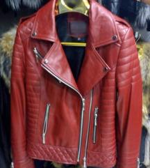 Kozna jakna Crvena