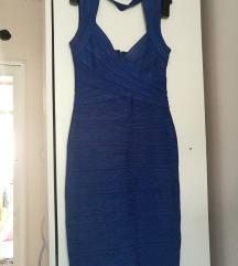 Herve Leger plava haljina PRODATO