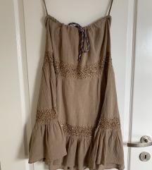 Pinko krem suknja