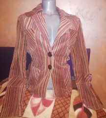 Vintage prugasta sako jakna